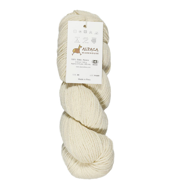 100% Baby Alpaca Yarn Wool Bare Yarn Wool Undyed Hank DK Weight - Heavenly Soft and Perfect for Knitting and Crocheting