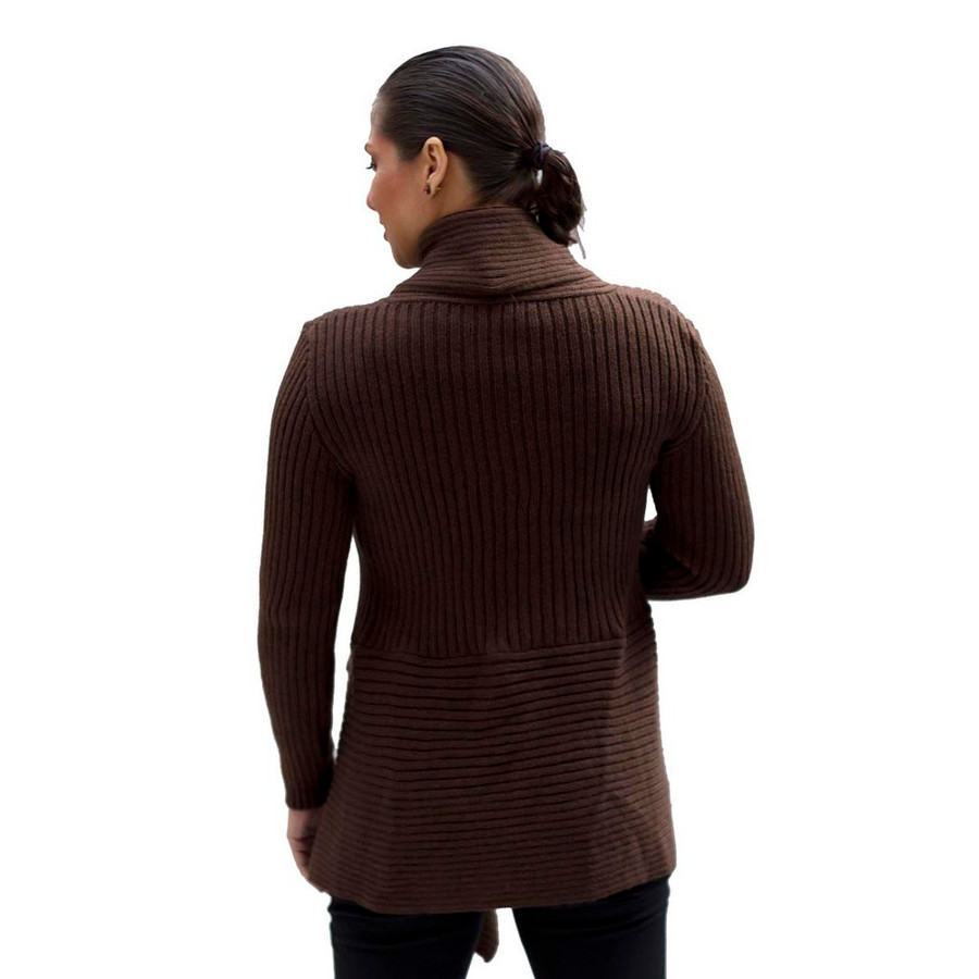 Women's Alpaca Wool Coat SZ M Brown (11L-014-890M)