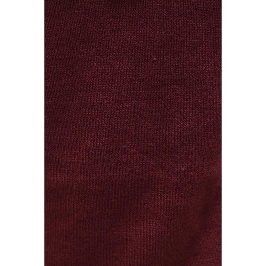 Hooded Alpaca Wool Jacket SZ S Wine Burgundy (14F-015-843S)
