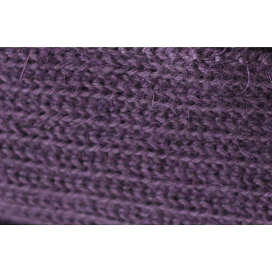 Superfine Alpaca Wool Beanie Hat & Scarf Set Purple (33-017-00924)