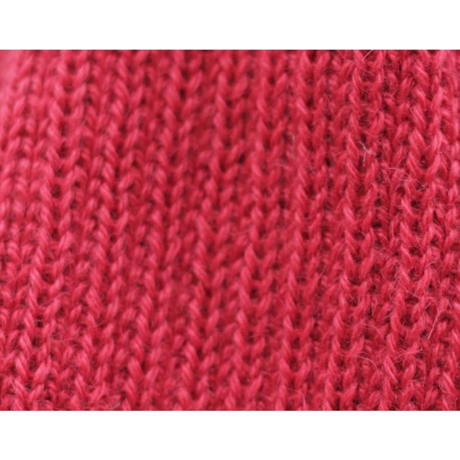 Superfine Alpaca Wool Beanie Hat & Scarf Set Red (33-035-00851)