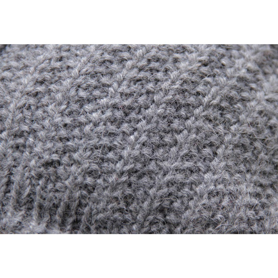 Superfine Hand Knitted Alpaca Wool Beanie Hat & Scarf Gray (33C-003-404)