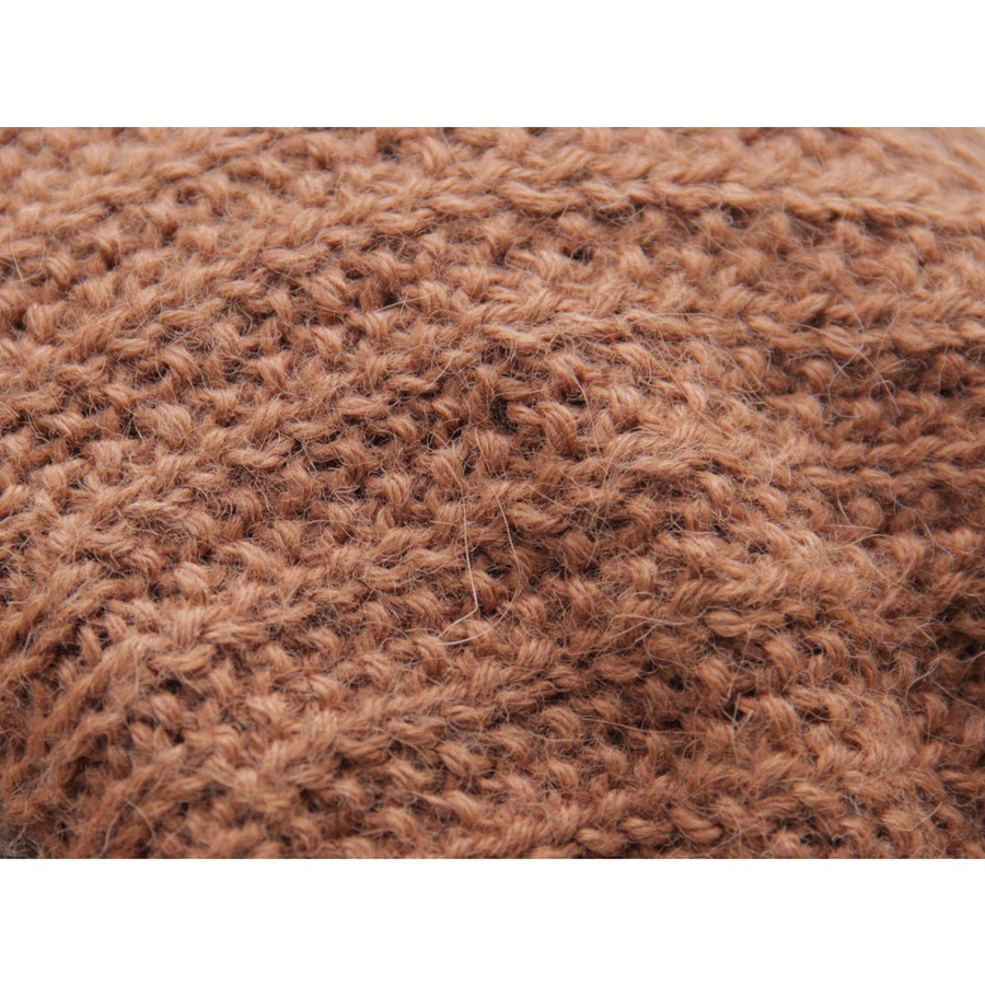 Superfine Hand Knitted Alpaca Wool Beanie Hat & Scarf Copper (33C-016-790)