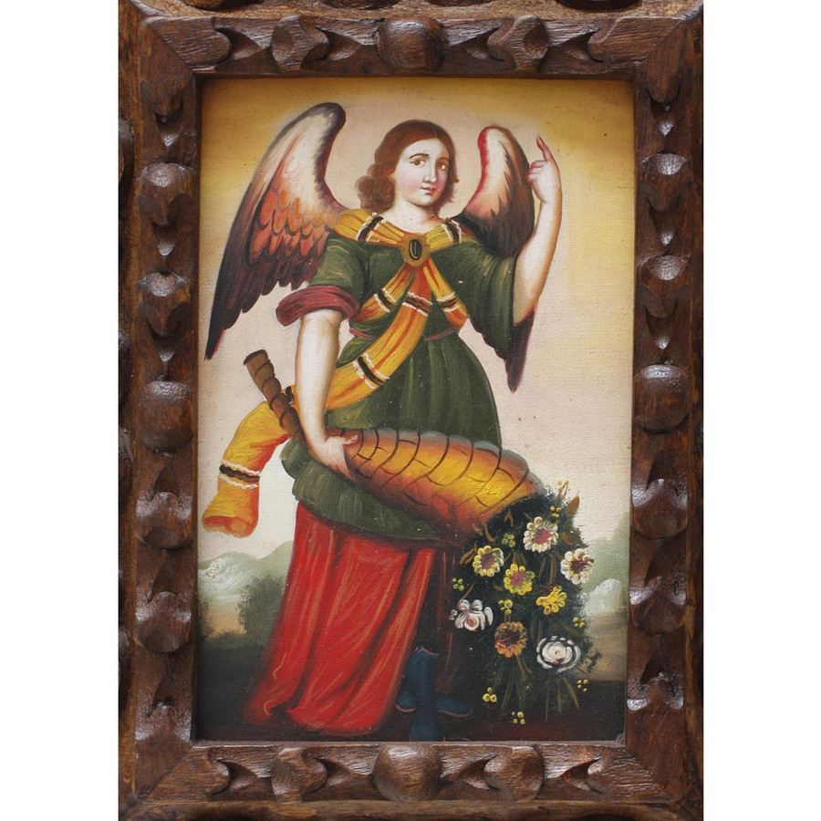 "Archangel Gabriel Original Art Framed Oil Painting 10""x 8"" (86-014-02235)"