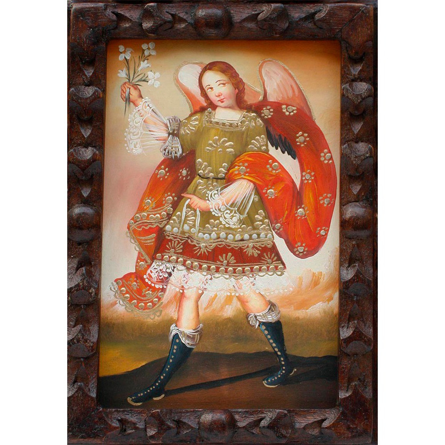 "Archangel Gabriel Original Art Framed Oil Painting 10""x 8"" (86-014-02244)"
