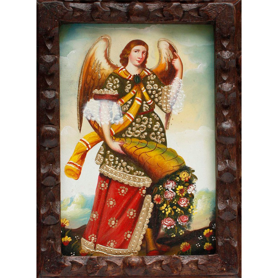 "Archangel Gabriel Original Art Framed Oil Painting 10""x 8"" (86-014-02261)"