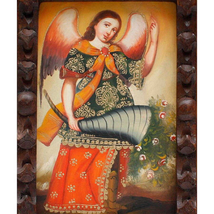 "Archangel Gabriel Original Art Framed Oil Painting 10""x 8"" (86-014-02289)"