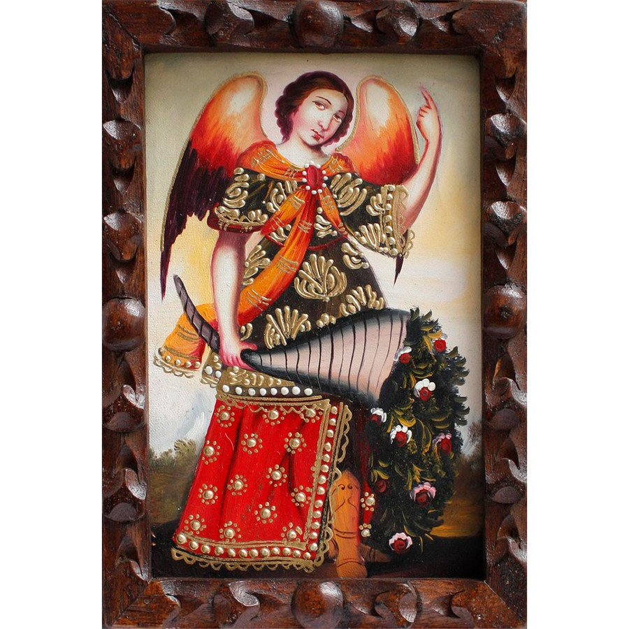 "Archangel Gabriel Original Art Framed Oil Painting 10""x 8"" (86-014-02363)"