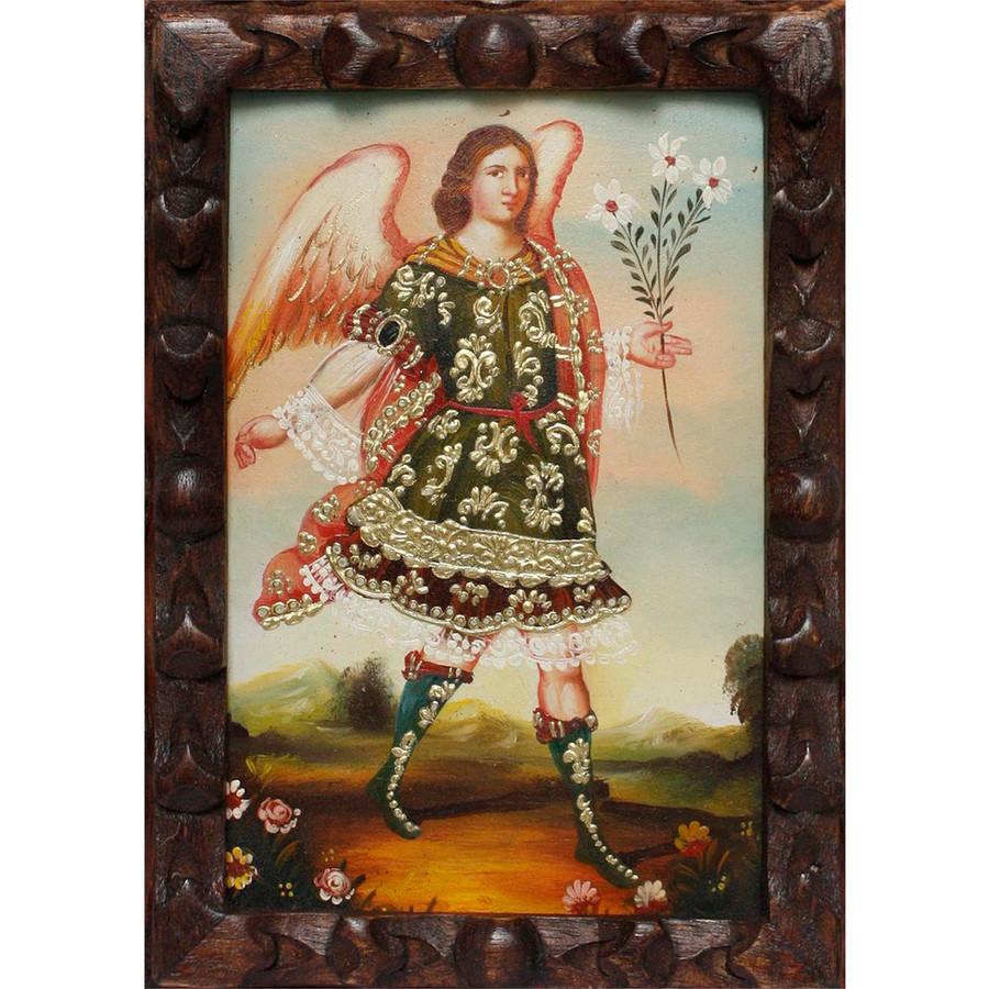 "Archangel Gabriel Original Art Framed Oil Painting 10""x 8"" (86-014-02370)"