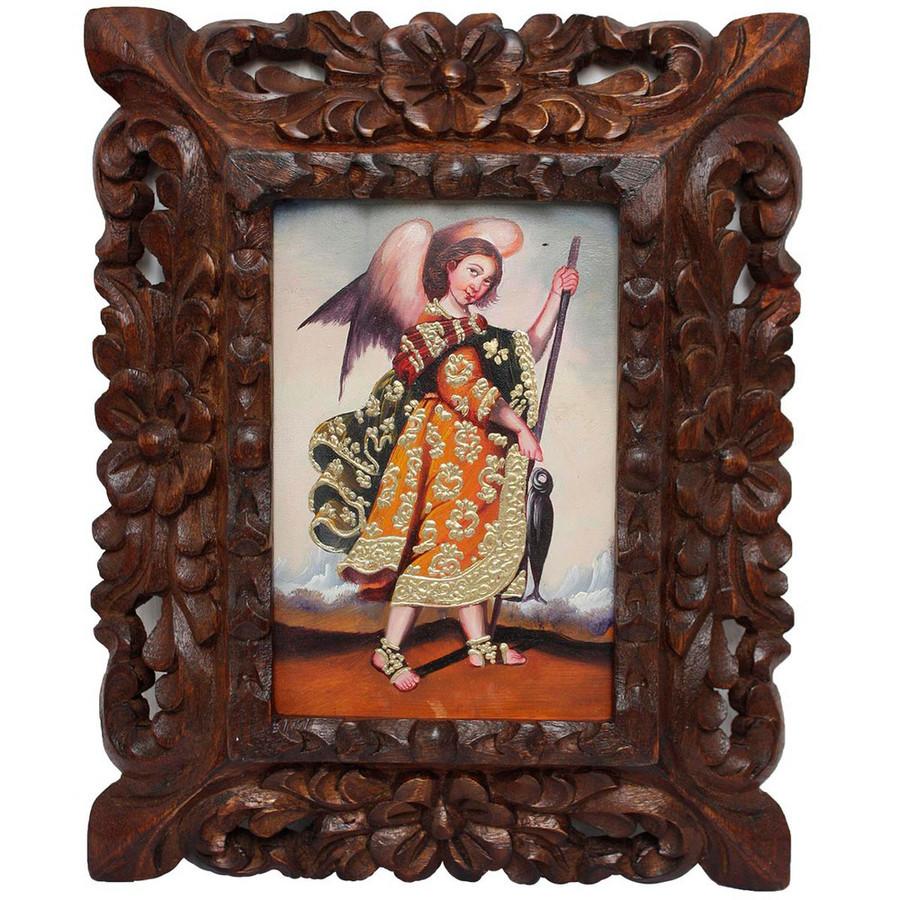 "Archangel Raphael Original Art Framed Oil Painting 10""x 8"""