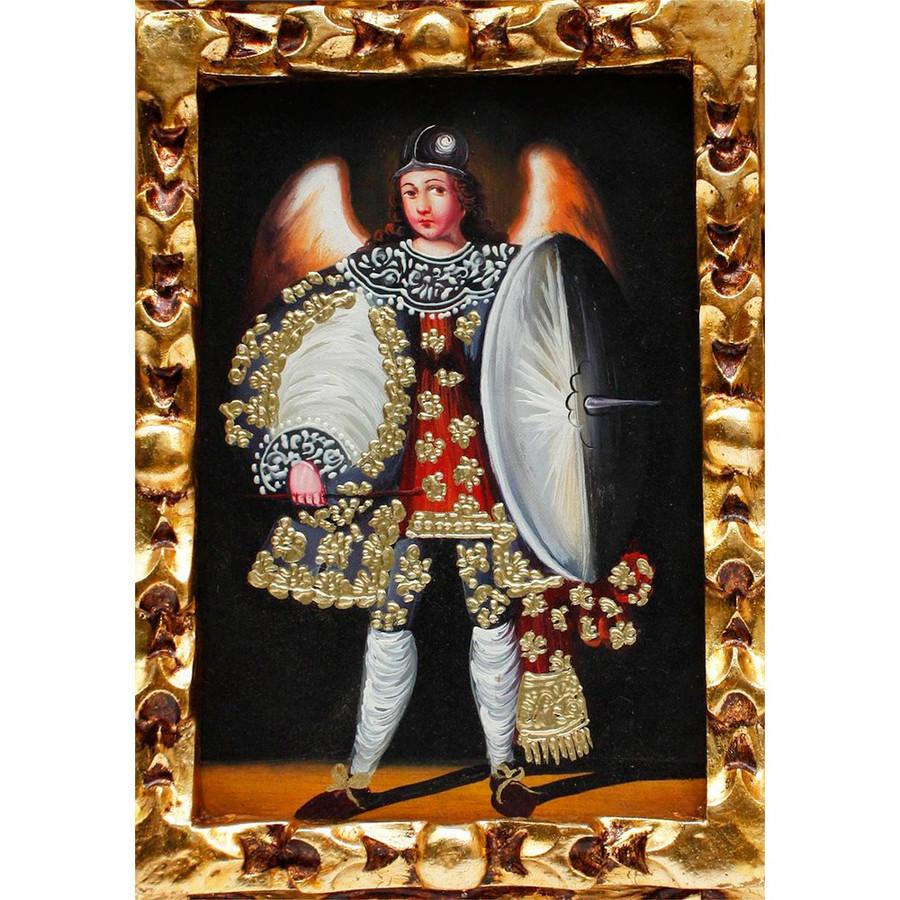 "Archangel Michael Original Art Framed Oil Painting 10""x 8"" (86-021-02358)"
