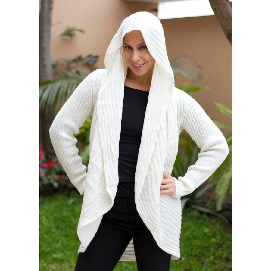 Alpaca Wool Coat Ivory SZ L