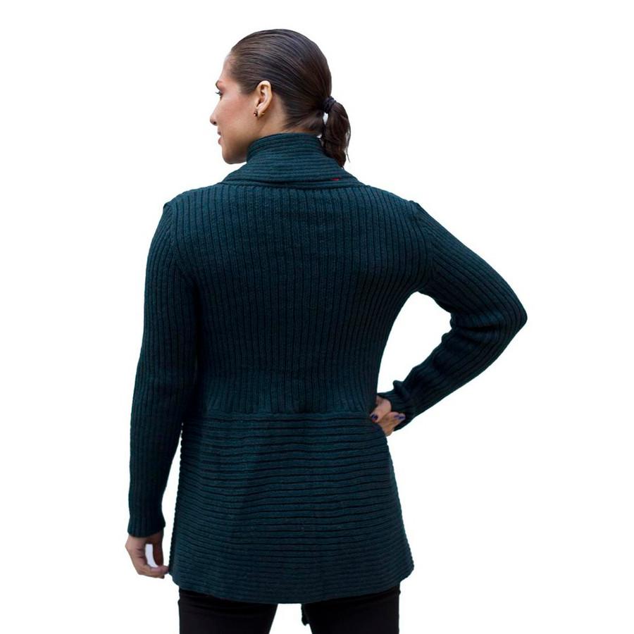 Women's Alpaca Wool Coat SZ M Green (11L-018-884M)