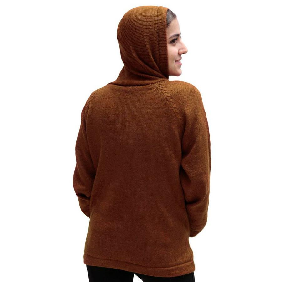 Hooded Alpaca Wool Jacket SZ M Copper (14F-016-791M)