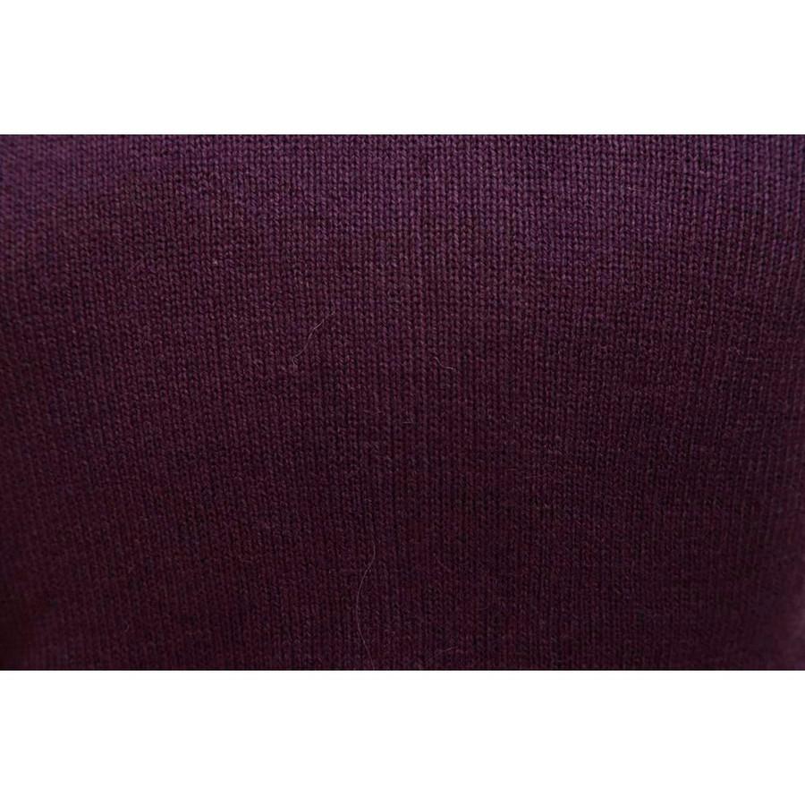 Hooded Alpaca Wool Jacket SZ XL Plum (14F-043-852XL)