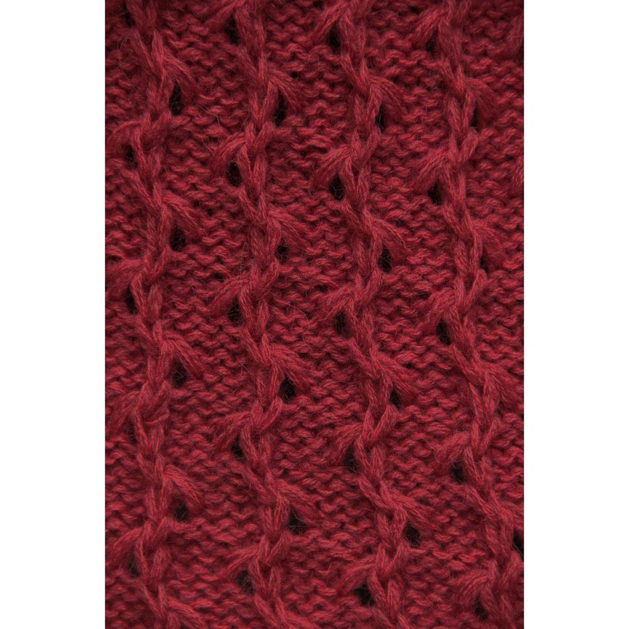 Womens Superfine Alpaca Wool Hooded Coat Size M Red (11C-035-842M)