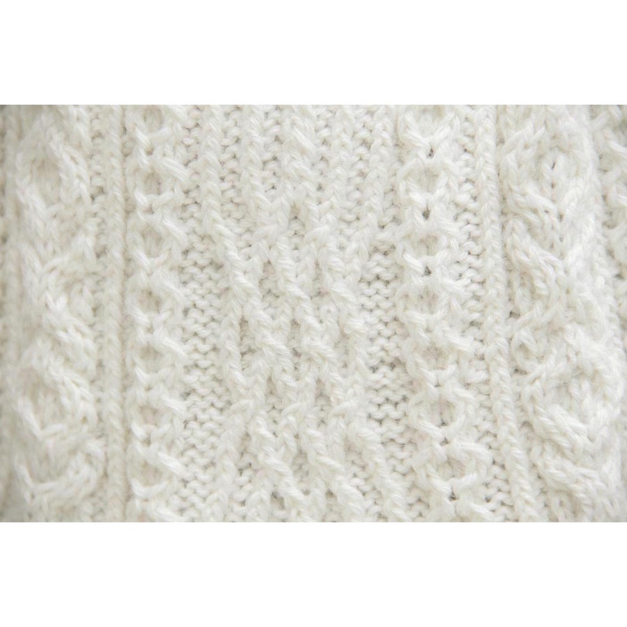 Chunky Superfine Handknitted Alpaca Scarf Ivory (06-013-12090)