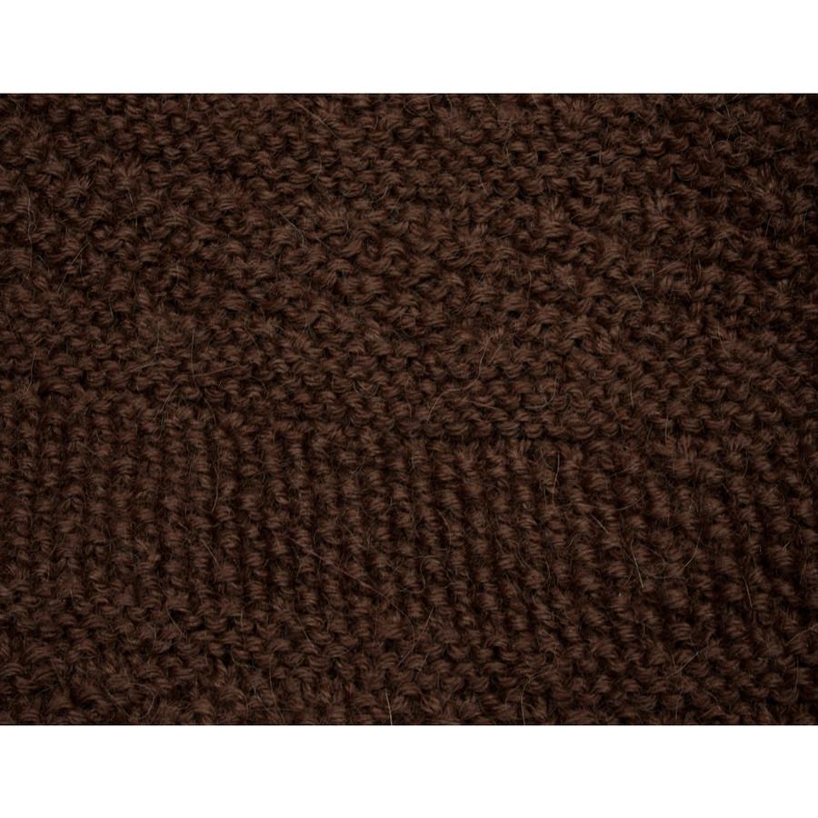 Superfine Hand Knitted Alpaca Wool Hat Brown (65M-014-890)