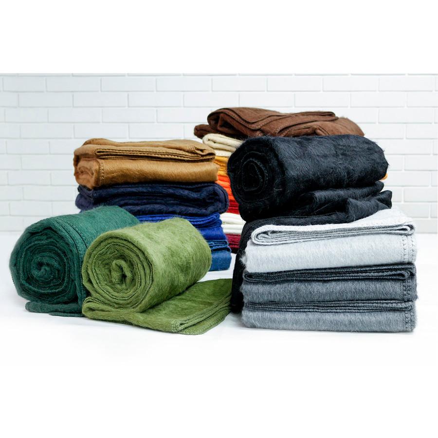 """Superfine Alpaca Wool Woven Throw Blanket Queen Size 90"""" x 80"""""""