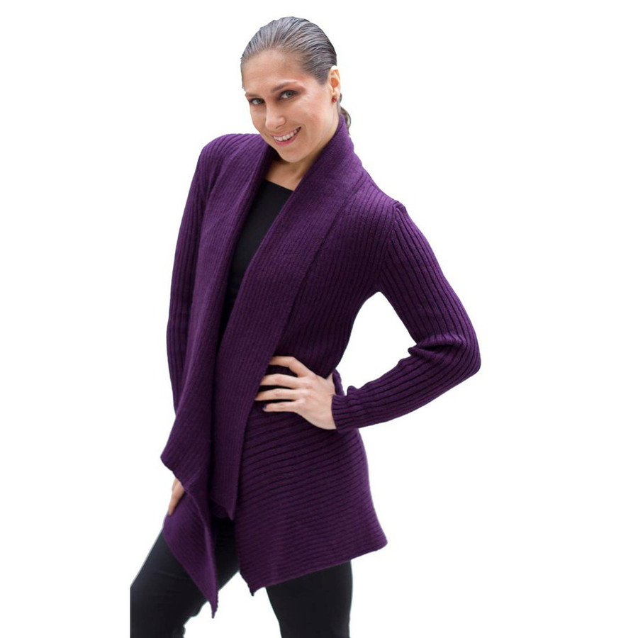 Women's Alpaca Wool Coat SZ M Plum (11L-043-852M)