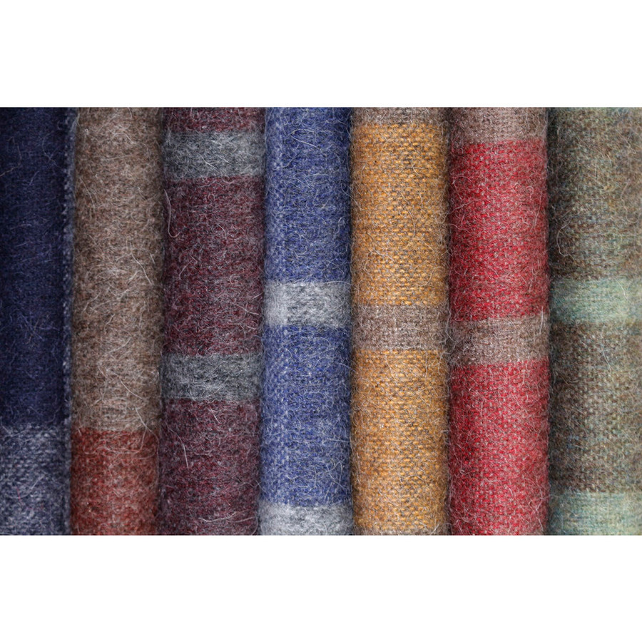 "Alpaca Merino Wool Blanket Throw Plaid Scottish Pattern Soft And Warm 72"" x 64"""