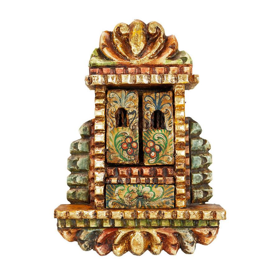 Saint Rose Colonial Peru Handmade Retablo Religious Handcarved Altarpiece (71-100-04539)