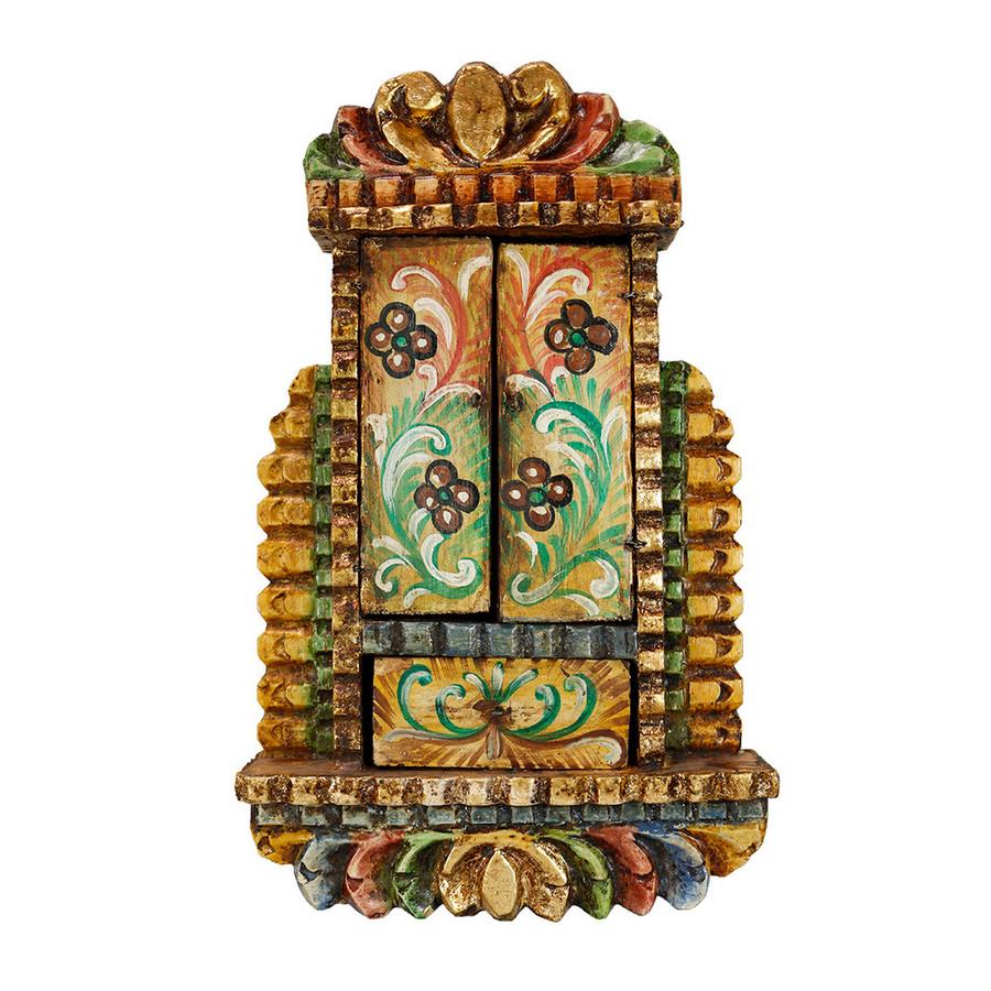 Virgin Of Mercy Colonial Peru Handmade Retablo Religious Handcarved Altarpiece (71-100-04543)