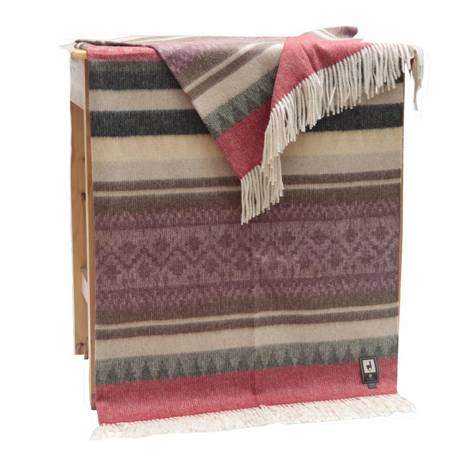 Special Alpaca Wool Cherokee Style Blanket Throw