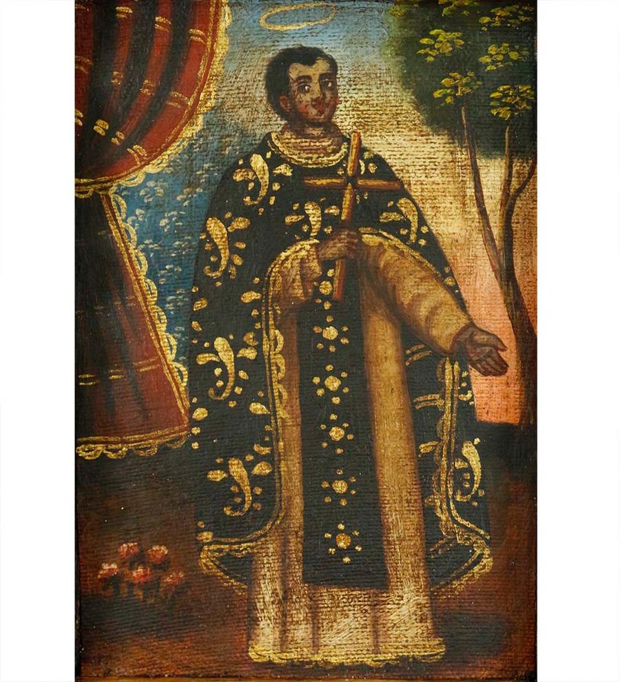Saint Martin Colonial Peru Religious Handmade Retablo Handcarved Altarpiece