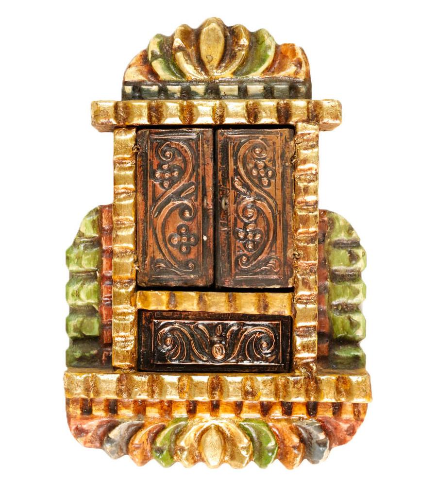 Guadalupe Virgin Colonial Peru Art Handmade Retablo Handcarved Altarpiece (4586)