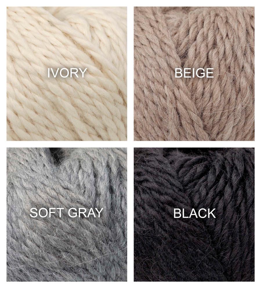 100% Baby Alpaca Yarn Wool Set Of 3 Skeins Chunky Bulky Weight