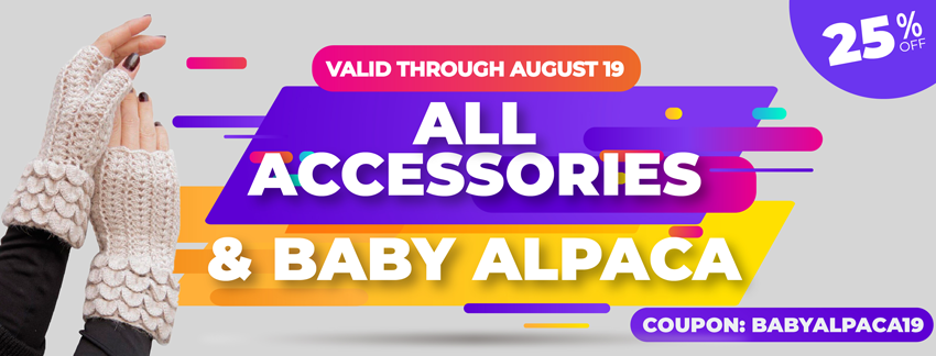 25% OFF All Accessories and baby alpaca