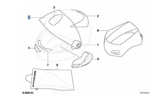 Nr. 5 BMW Visor casco Sport integral claro