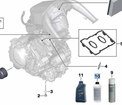 BMW Motocicleta Anticongelante Enfriador (nr 10)