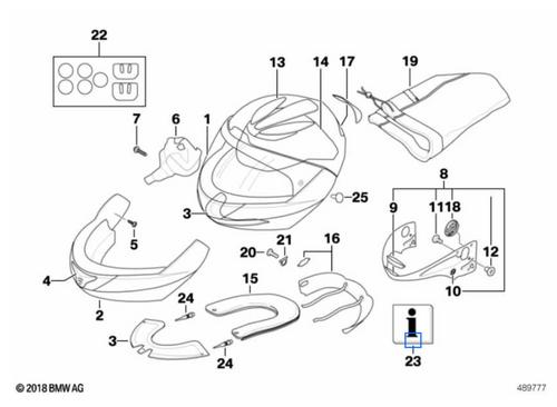 BMW Casco System 5 - Piezas