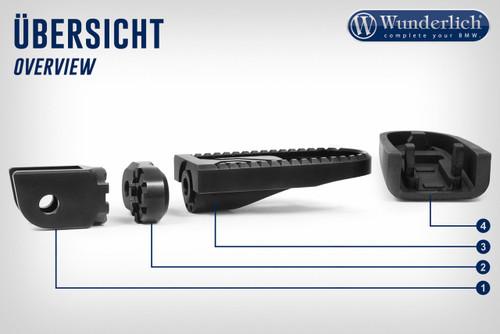 Wunderlich Adaptador EVO1 30mm-negro-par (número 2)