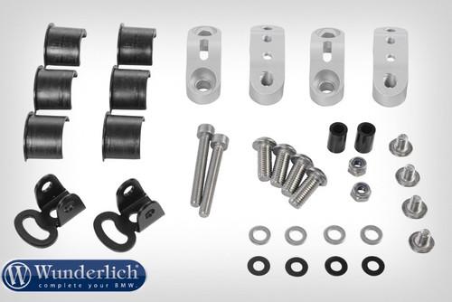 Wunderlich Kit de montaje luces adicionales para barra de protección del depósito - Plata