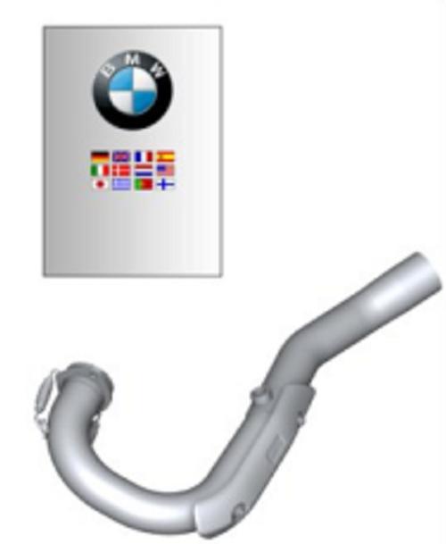 BMW G 650 X Colector de escape Akrapovic