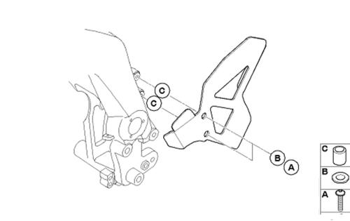 BMW G 650 X Protección de chasis