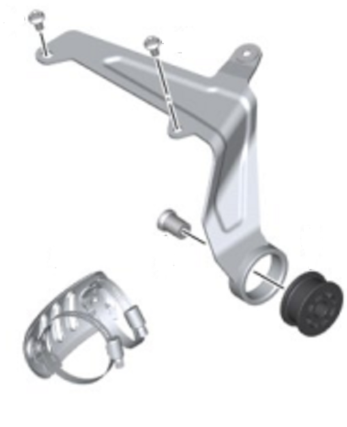 BMW Kit placa de soporte de montaje del silenciador de escape