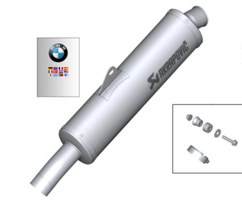 BMW F 800 GT/R HP Akrapovic silenciador deportivo