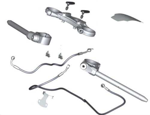 BMW R Nine T Kit de manillar medio ajustable con puente horquilla