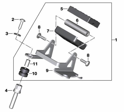 BMW Kit de montaje Soporte Smartphone Cradle