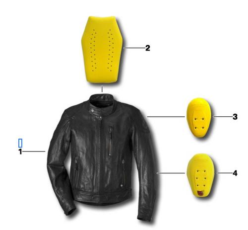 BMW Protector Espalda - Chaqueta Black Leather - Número 2