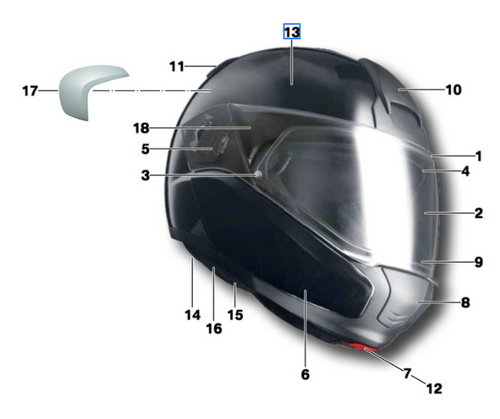 BMW Casco System 6 - partes individuales