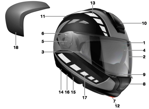 BMW Casco System 6 Evo - partes individuales