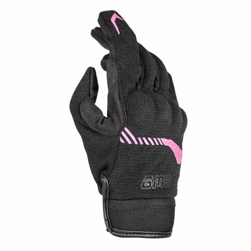 GMS Guantes Jet-City negro/rosa