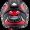 ROCC 331 Casco Integral Negro / Rojo Mate