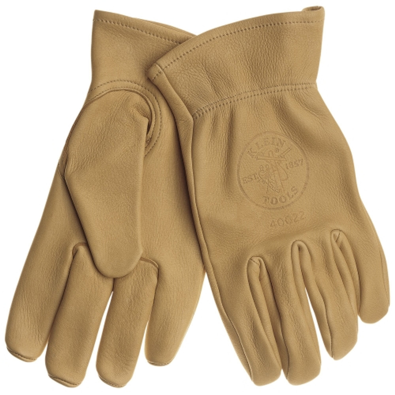 Klein 40021 Cowhide Work Gloves Medium