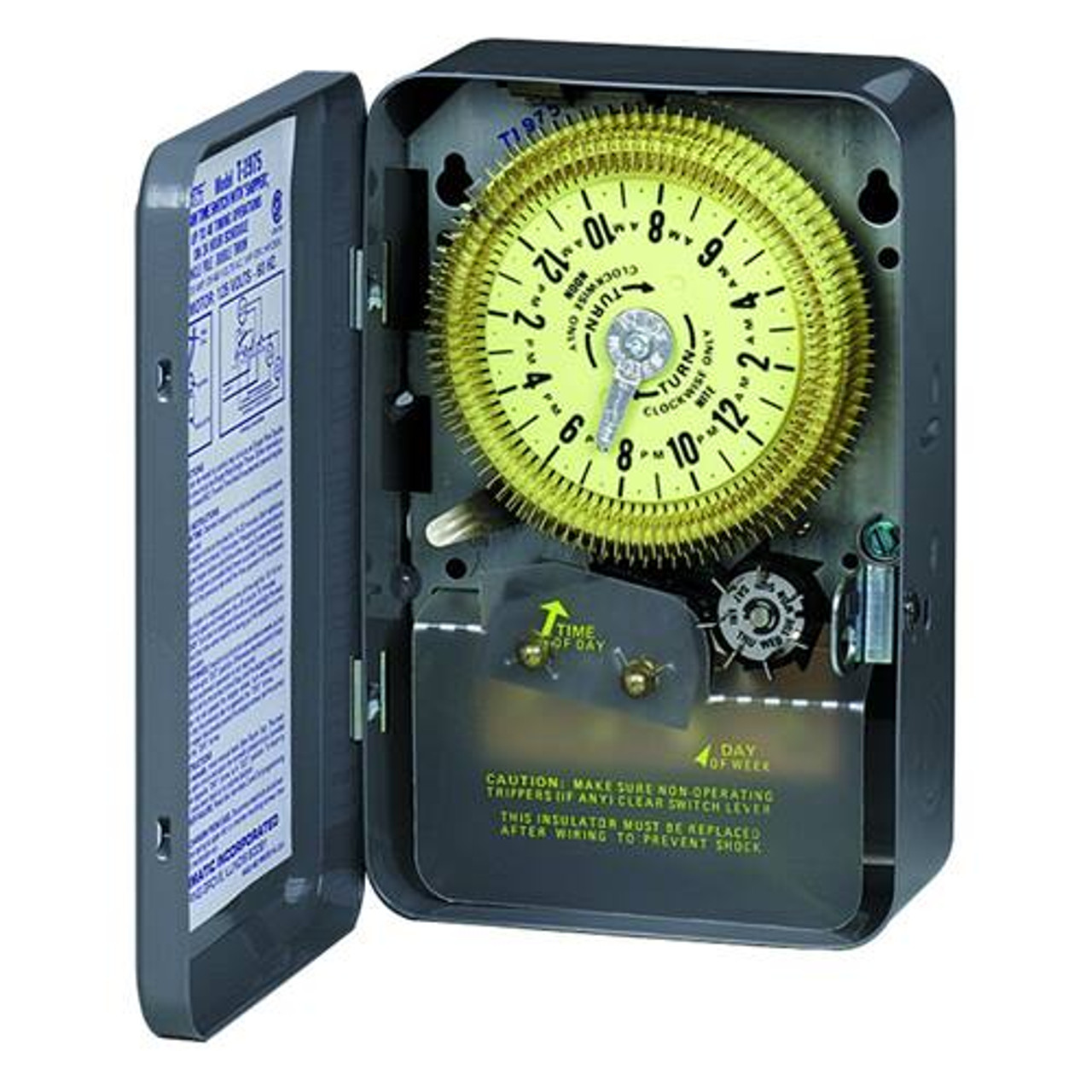 Intermatic T1975 24-Hour Indoor Mechanical Timer with Skipper SPDT